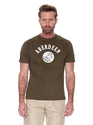 Cortefiel Camiseta Gráfica (Verde)