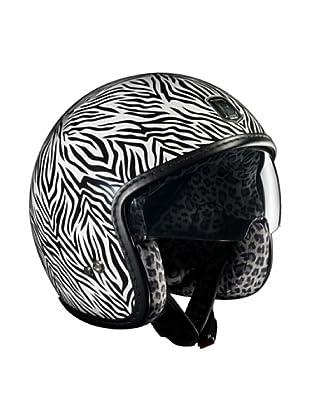 Exklusiv Helmets Casco Racer Zebra (Blanco)