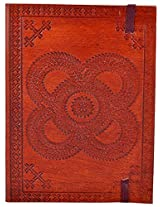 Craft Club Leather Emboss Rangoli Notebook, 7 x 5 inches, 200 Pages