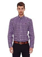 Spagnolo Camisa Oxford Botón (Morado / Azul)