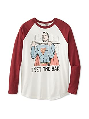Junk Food Men's Set The Bar T-Shirt (Sugar/Crimson)