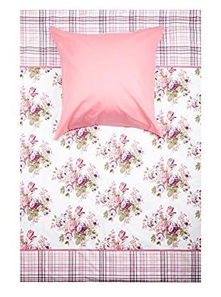 Perfect Flower Bettwäsche-Set Elbertina Pink 135/200 cm