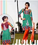Beautiful Green Floral Printed Salwar Kameez 109