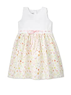 Noa Lily Girl's Cut Out Back Pique Top with Bird Skirt (Multi)