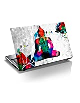 "Monika Creations Buddha Water color 15.6 inch Laptop Skin, 3M Vinyl Fits for 13.3"", 14"", 15"", 15.6"", 16"" Screen- Improve Peace in Mind, Office and home (BUY 2 AND GET 1 FREE)"