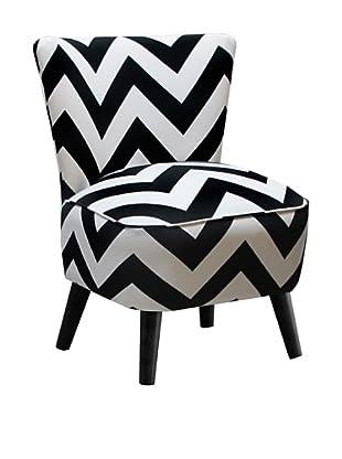 Skyline Furniture Modern Chair, Zig Zag Black/White