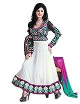 Nazaquat Elegant White Anarkali Suit Salwar Kameez