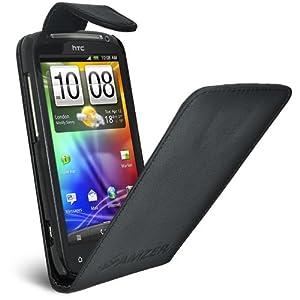 Amzer AMZ92919 Flip Case for HTC Sensation (Black)