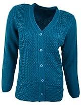Casanova Women's Long Sleeve Cardigans (5076, Blue, L)