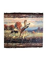 Walnut Hollow InGrained Art -  Double Trouble-Pheasants by Greg Messier (Wall Art on Wood Panel)