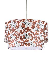 Inhabit Floral Hudson Double Pendant Lamp (Ivory/Rust)