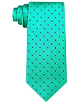 Scott Allan Men's Polka Dot Necktie - Green & Purple