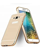Kapa Acrylic Back + Metal Bumper Case Cover for Samsung Galaxy J7 - Gold