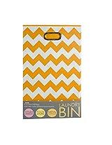 Modern Littles Folding Laundry Basket, Bold Orange Chevron