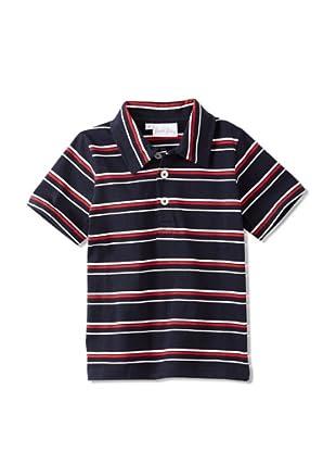 Rachel Riley Boy's Striped Polo (Navy)