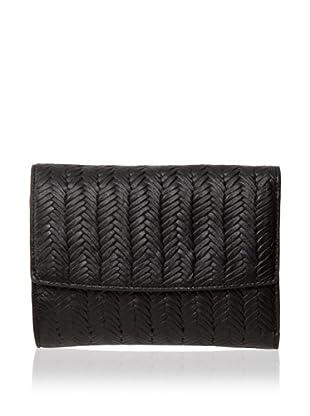 Treesje Women's Snap Wallet (Black)