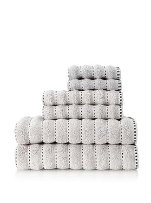 Famous International Stitches 6-Piece Towel Set (Silver/Black)