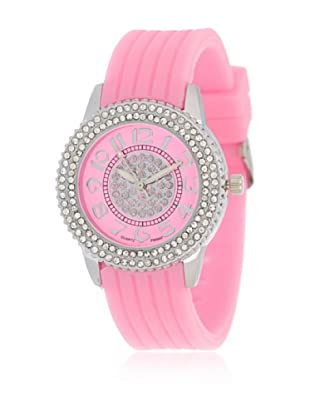My Silver Reloj Reloj Plata y Rosa con Esfera Strass