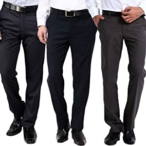 Gwalior Suitings Combo of 3 Men Trousers Fabric GS Trouser 211