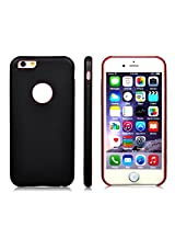 AirPlus AirCase 1mm Slim Case Leather Feel with Apple Cut Out for iPhone 6[BLACK]