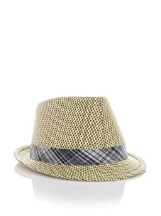 French Connection Men's Faux Hawk Trilby (Straw)