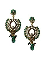Beingwomen Elegant Gold Plated Kundan Studded Fashion Alloy Drop Earring