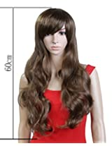 Pretty Girls' Natural Straight Synthetic Hair Wig (Model: Jf010261) (Light Brown)