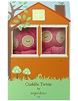 Angel Dear Cuddle Twin Set, Fuchsia Owl
