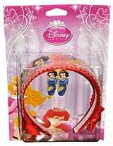 Disney Red Princess Hotprint Hair band & Tic-tac clip Pair