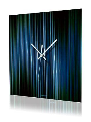 HangTime Designs Lineas Wall Clock (Aqua)