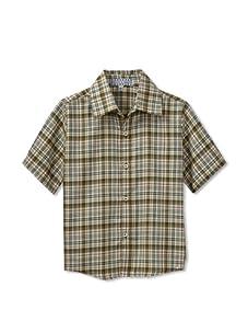 Velvet & Tweed Boy's Button Front Shirt (Autumn Plaid)