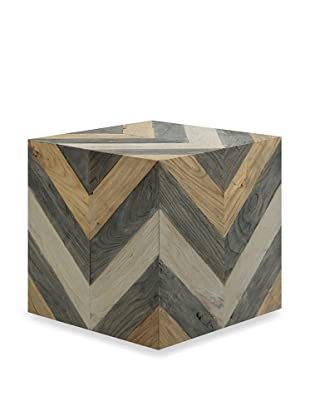 Shine by S.H.O. Miri Accent Stool (Old Elm/Antique Grey/Elm)