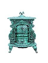 Karara Mujassme Victorian Style Fibre Cast Iron Fireplace Antique Green Home Interior Décor