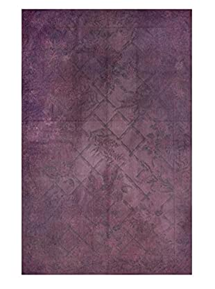 nuLOOM One-of-a-Kind Hand Woven Carmen Turkish Kilim, Purple, 5' 5