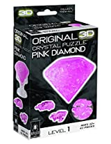 3D Crystal Puzzle - Pink Diamond: Level 1