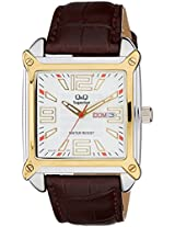 Q&Q Shogun Analog White Dial Men's Watch - S200-504Y