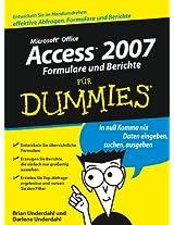 Access 2007 Formulare und Berichte für Dummies (Für Dummies)
