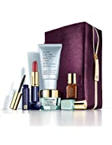Estee Lauder 2013 Gift Set (Advanced Night Repair Serum + Cleanser + Lipstick + Mascara with Purple Cosmetic Bag)