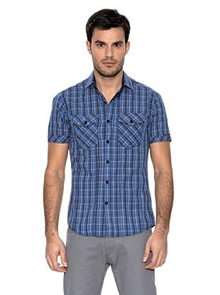 Springfield Camisa Mini Cuadros (Azul)