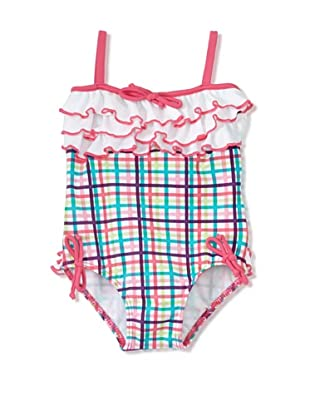 Azul Swimwear Girl's Life's A Picnic Swimsuit (Pink)