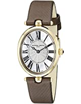 Frederique Constant Women's FC200MPW2V5 Art Deco Analog Display Swiss Quartz Brown Watch