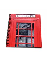 3dRose db_113141_2 British Red Telephone Box Photo UK Vintage London United Kingdom Memory Book, 12 by 12-Inch