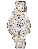 Casio Sheen Analog White Dial Women's Watch - SHE-3046SGP-7AUDR (SX165)