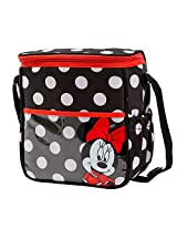 Disney Minnie Mouse Polka Dot Mid Sized Diaper Bag, Black/White