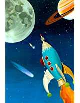 Oopsy daisy Retro Rocket Stretched Canvas Wall Art by Jill Pabich, 20 by 30-Inch
