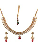Dishi imitation jewellery gold plated AD necklace set Charm jewellery set for Women