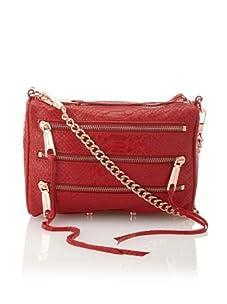 Rebecca Minkoff Women's Carmen Zip Shoulder Bag, Red