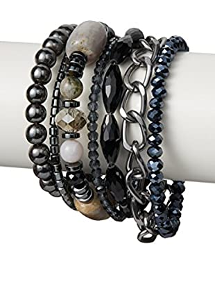 Saachi Gunmetal-Tone Multi-Strand Bracelet