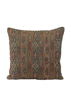 "John-Richard Collection Rich Woven Paisley Beaded Pillow, 18"" x 18"""
