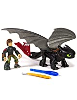 DreamWorks Dragons, Dragon Riders, Hiccup and Toothless Figures